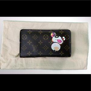 Louis Vuitton Murakami Panda Zippy Wallet